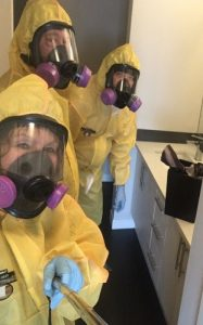 Mayken Hazmat Technicians Wearing Yellow Safety Suits