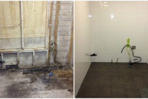 Kitchen Before And After Mold Removal And Flooding Restoration