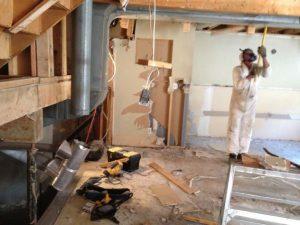 Demolition At A Drug Lab Operation House