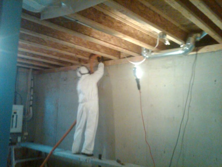 Cleaning illicit drug dust between joists