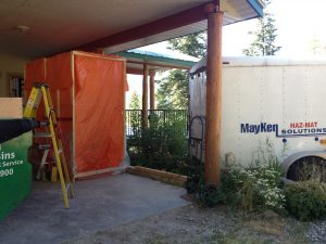 Fentanyl Decon unit set up in place