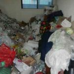 Massive Pile Of Trash At Hoarders Home Before Clean Up