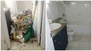 Cleaning Up Before And After At Hoarders House