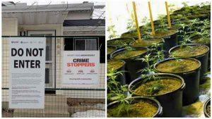 Crime Stoppers Do Not Enter Sign At Drug Lab Operation