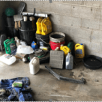 Dispose of oil in your garage