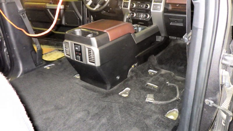 vehicle decontamination - seats removed