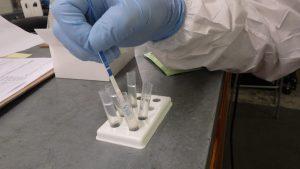 Swab testing is used for Fentanyl vehicle decontamination