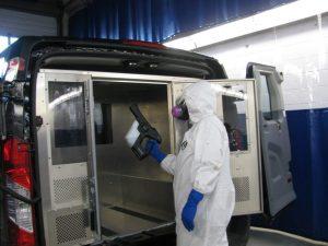 disinfecting cargo van